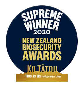 Supreme Winner 2020 NZ Biosecurity Awards