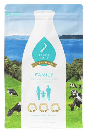 Taupo Pure Nutritional Family packaging